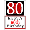 PERSONALIZED 80 YEAR OLD YARD SIGN PARTY SUPPLIES