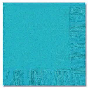 Click for larger picture of BERMUDA BLUE 2 PLY BEVERAGE NPK (600/CS) PARTY SUPPLIES