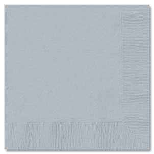 SILVER 3 PLY DINNER NAPKIN (25 CT) PARTY SUPPLIES