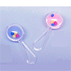 CLEAR MINI RATTLE AST. 1 1/2 IN. (24/CT) PARTY SUPPLIES