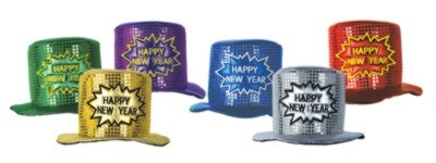 DISCONTINUED GLITZ NEW YEAR MULTI HAT PARTY SUPPLIES