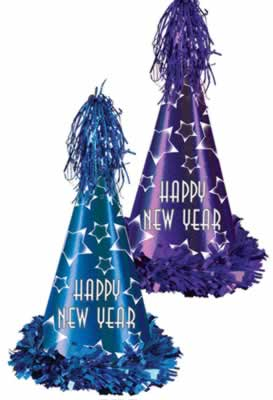 Click for larger picture of GEM STAR NEW YEAR PARTY HATS PARTY SUPPLIES