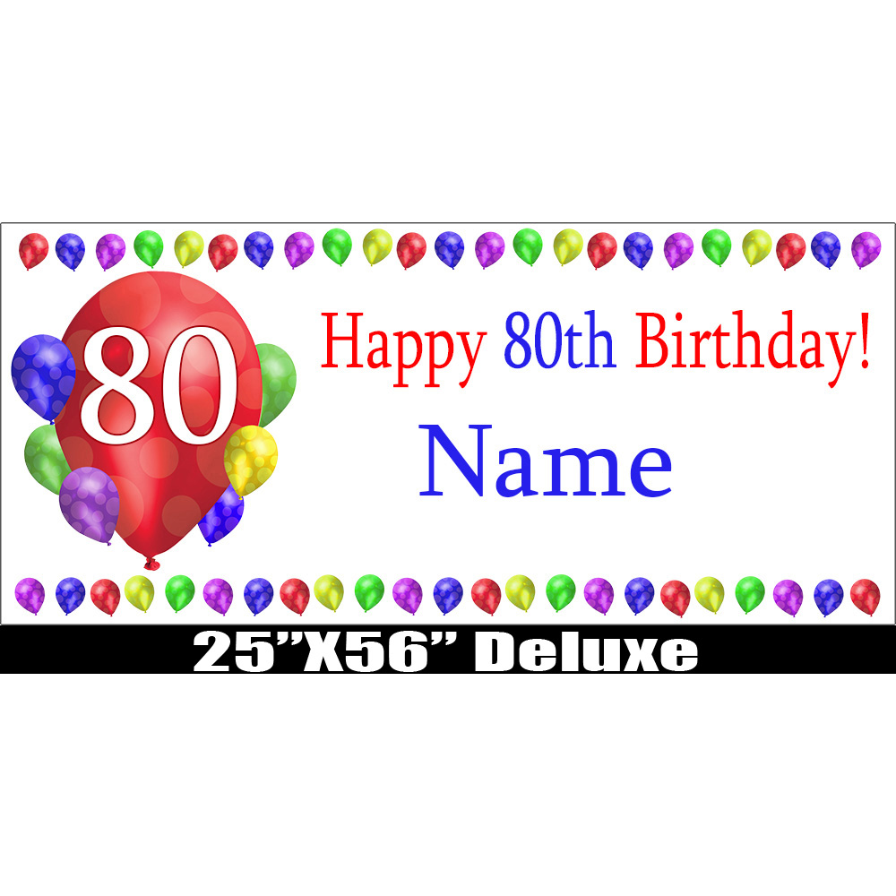 Click For Larger Picture Of 80TH BIRTHDAY BALLOON BLAST DELUX BANNER PARTY SUPPLIES