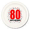 80TH BIRTHDAY DINNER PLATE 8-PKG PARTY SUPPLIES