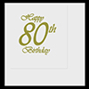 80TH CLASSY BIRTHDAY LUNCHEON NAPKIN PARTY SUPPLIES