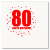 80TH BIRTHDAY LUNCHEON NAPKIN 16-PKG PARTY SUPPLIES