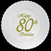80TH CLASSY BIRTHDAY PLASTIC DESSERT PLA PARTY SUPPLIES