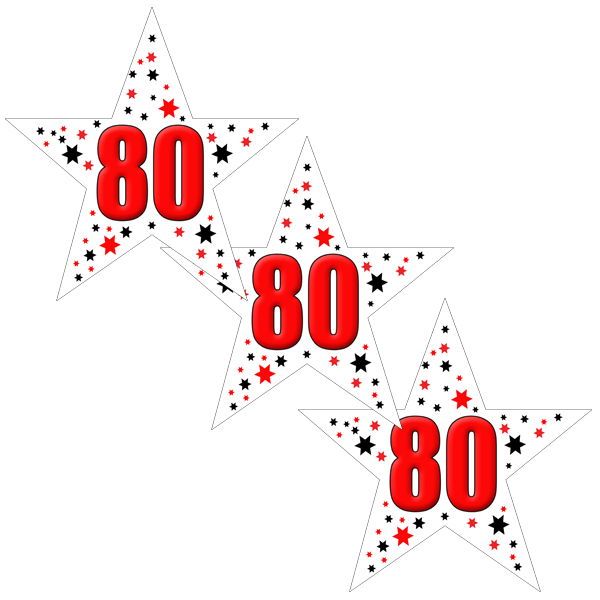 80TH BIRTHDAY STAR DECO FETTI PARTY SUPPLIES
