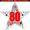 80TH SILVER STAR DECORATION PARTY SUPPLIES
