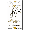 PERSONALIZED 80TH GOLD DOOR BANNER PARTY SUPPLIES