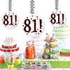 81! DANGLER DECORATION 3/PKG PARTY SUPPLIES