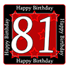 81ST BIRTHDAY COASTER PARTY SUPPLIES
