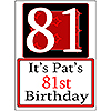 PERSONALIZED 81 YEAR OLD YARD SIGN PARTY SUPPLIES