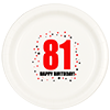 81ST BIRTHDAY DINNER PLATE 8-PKG PARTY SUPPLIES