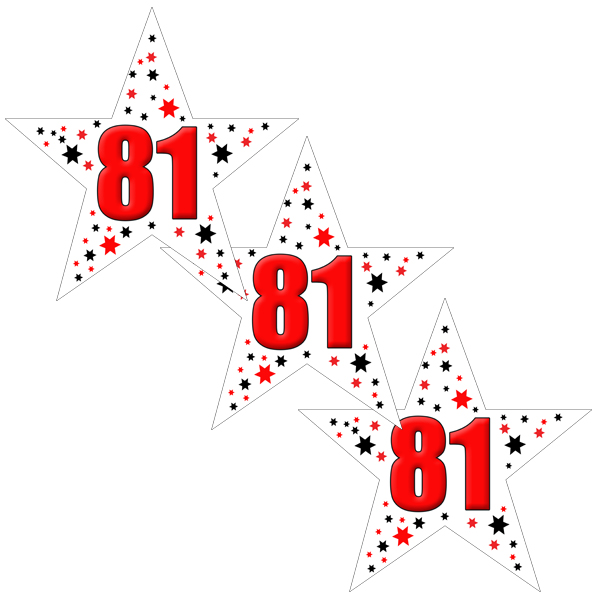 81ST BIRTHDAY STAR DECO FETTI PARTY SUPPLIES