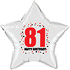 81ST BIRTHDAY STAR BALLOON PARTY SUPPLIES