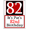 PERSONALIZED 82 YEAR OLD YARD SIGN PARTY SUPPLIES