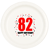82ND BIRTHDAY DINNER PLATE 8-PKG PARTY SUPPLIES