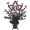 83! BLACK STAR CENTERPIECE PARTY SUPPLIES