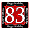 83RD BIRTHDAY COASTER PARTY SUPPLIES