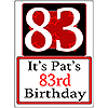 PERSONALIZED 83 YEAR OLD YARD SIGN PARTY SUPPLIES