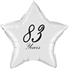 83 YEARS CLASSY BLACK STAR BALLOON PARTY SUPPLIES
