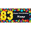 BALLOON 83RD BIRTHDAY CUSTOMIZED BANNER PARTY SUPPLIES