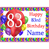 83RD BALLOON BLAST CUSTOMIZED PLACEMAT PARTY SUPPLIES