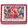 83RD BIRTHDAY BALLOON BLAST EDIBLE IMAGE PARTY SUPPLIES