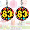 83RD BIRTHDAY BALLOON DANGLER PARTY SUPPLIES