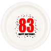 83RD BIRTHDAY DINNER PLATE 8-PKG PARTY SUPPLIES