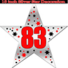 83RD SILVER STAR DECORATION PARTY SUPPLIES
