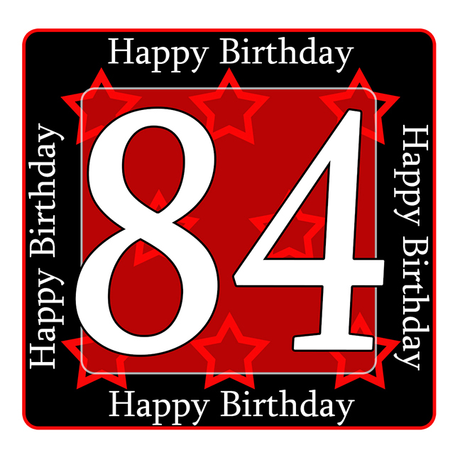 Click for larger picture of 84th birthday coaster party supplies