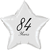 84 YEARS CLASSY BLACK STAR BALLOON PARTY SUPPLIES