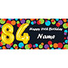 BALLOON 84TH BIRTHDAY CUSTOMIZED BANNER PARTY SUPPLIES