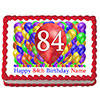 84TH BIRTHDAY BALLOON BLAST EDIBLE IMAGE PARTY SUPPLIES