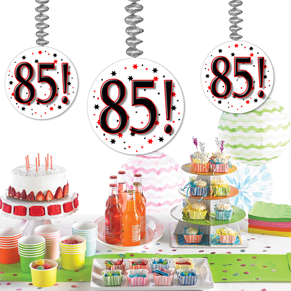 Click For Larger Picture Of 85 DANGLER DECORATION 3 PKG PARTY SUPPLIES