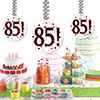 85! DANGLER DECORATION 3/PKG PARTY SUPPLIES