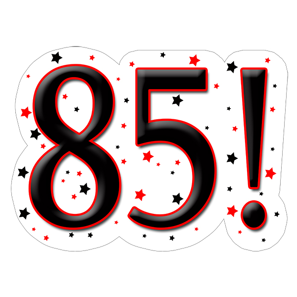 85! DECORATION (15X22 IN.) PARTY SUPPLIES