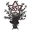 85! BLACK STAR CENTERPIECE PARTY SUPPLIES