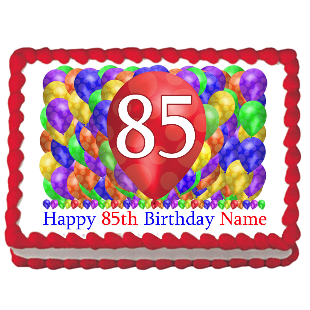 Click For Larger Picture Of 85TH BIRTHDAY BALLOON BLAST EDIBLE IMAGE PARTY SUPPLIES