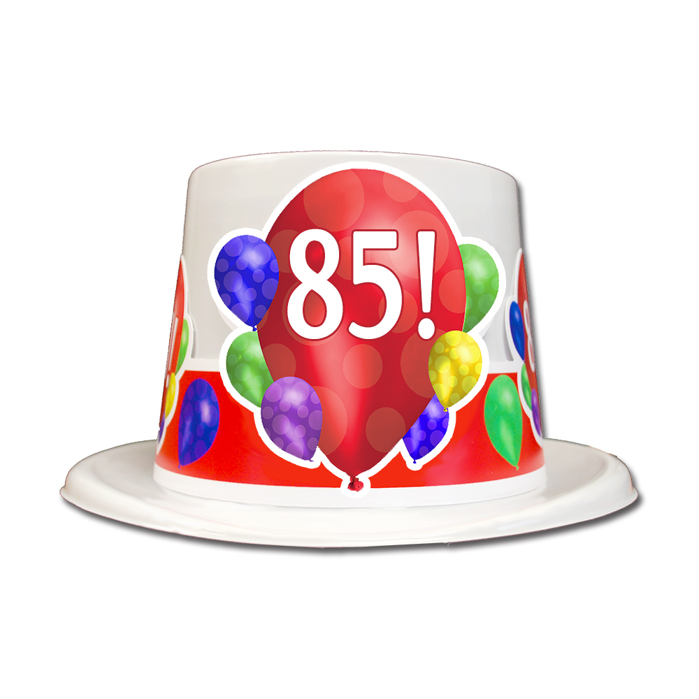 Click For Larger Picture Of 85TH BIRTHDAY BALLOON BLAST TOP HAT PARTY SUPPLIES