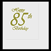 85TH CLASSY GOLD BIRTHDAY LUNCHEON NAPKI PARTY SUPPLIES