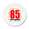 85TH BIRTHDAY DESSERT PLATE 8-PKG PARTY SUPPLIES