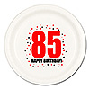 85TH BIRTHDAY DINNER PLATE 8-PKG PARTY SUPPLIES