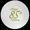 85TH CLASSY BIRTHDAY PLASTIC DESSERT PLA PARTY SUPPLIES