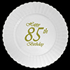 85TH CLASSY BIRTHDAY PLASTIC DINNER PLAT PARTY SUPPLIES
