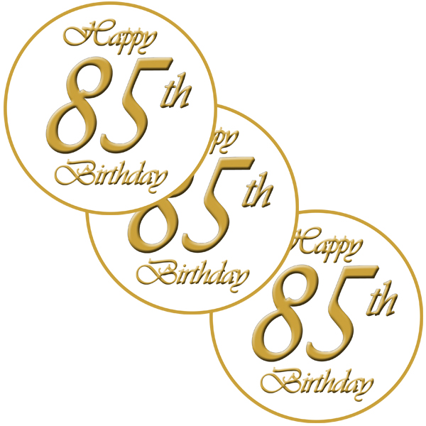 85TH CLASSY STICKER PARTY SUPPLIES