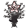 86! BLACK STAR CENTERPIECE PARTY SUPPLIES