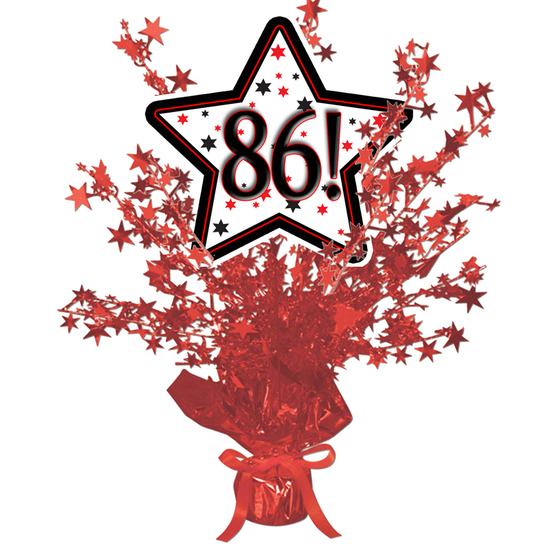 Click for larger picture of 86! RED STAR CENTERPIECE PARTY SUPPLIES